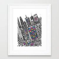 hong kong Framed Art Prints featuring Hong Kong by Martin Mc