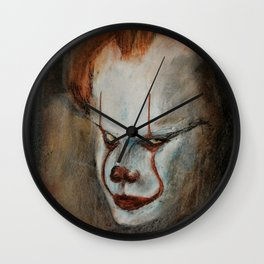 Portrait of Pennywise Wall Clock