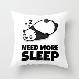 Sleepy Panda Need More Sleep Bear Wildlife Wilderness Lazy Forest Nature Gift Throw Pillow