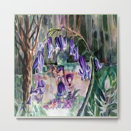 Blue Bell Forest Metal Print