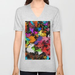 Artistic Messy Abstract Unisex V-Neck