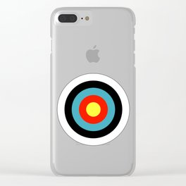 Bullseye Archery Target Shooter Rings Clear iPhone Case