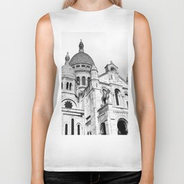 French Sacre Coeur church in Paris Biker Tank