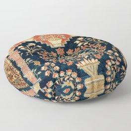 Kashan Poshti  Antique Central Persian Rug Print Floor Pillow