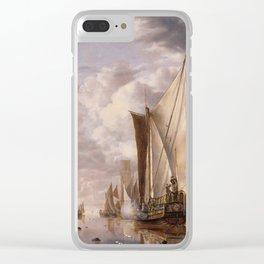 Shipping in a Calm at Flushing with a States General Yacht Firing a Salute 1649 Clear iPhone Case