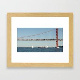 Lisbon bridge Framed Art Print