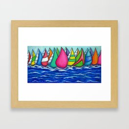 Rainbow Regatta Framed Art Print