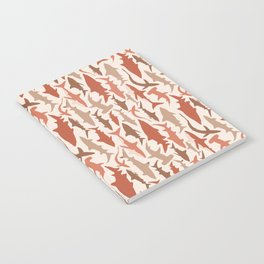 Swimming with Sharks in Coral and Brown Notebook