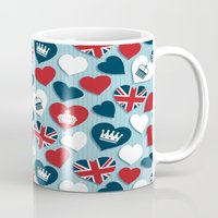 uk Mugs featuring UK Hearts by Matt Andrews