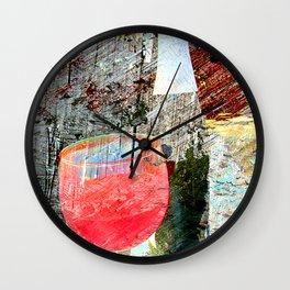 Wine art 4 Wall Clock