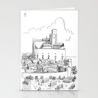 castle Stationery Cards featuring Castle by Mr.Willow