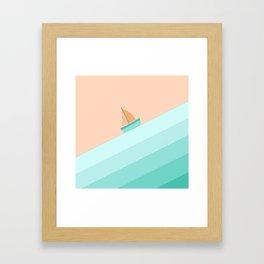 Boat on the Water #1 Framed Art Print