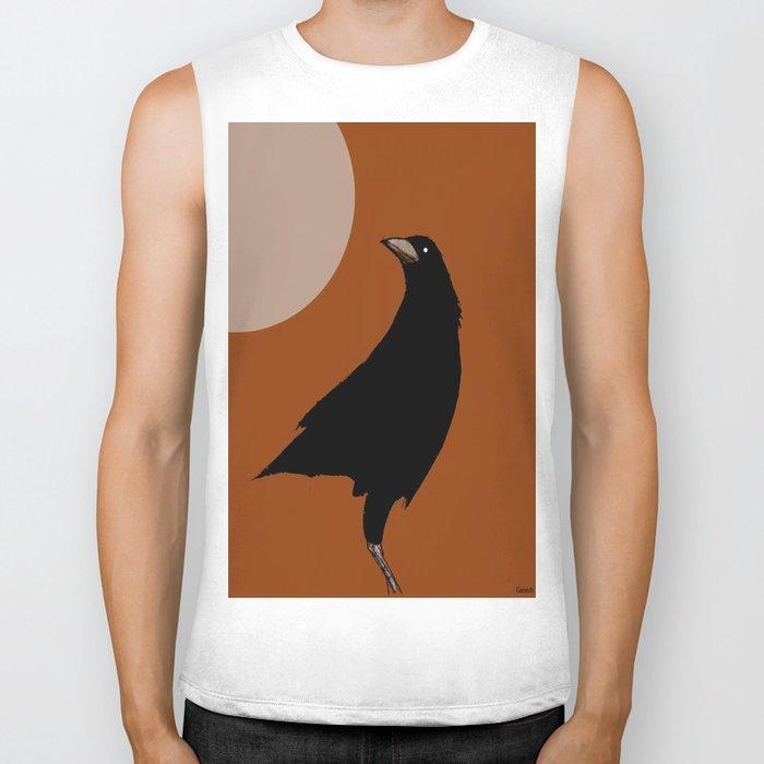 The crow of the setting sun Biker Tank