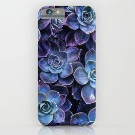 Periwinkle Lavender Succulent Garden iPhone Case