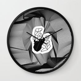 Built On Glass Wall Clock