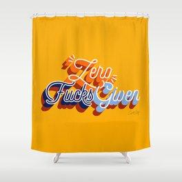 Zero F*cks Given – Yellow & Blue Palette Shower Curtain