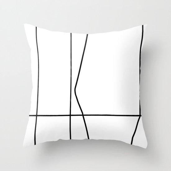 Graphic City Helsinki, extra nro. 2 Throw Pillow