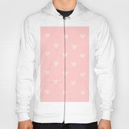 White hearts watercolor Hoody