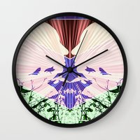 hitchcock Wall Clocks featuring Hitchcock by kikkerART