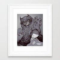 nightmare Framed Art Prints featuring Nightmare by hatrobot