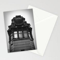 Black and White Top of Chicago River Boat House Photography Stationery Cards