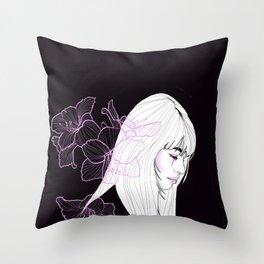 Fleur De Lune Throw Pillow
