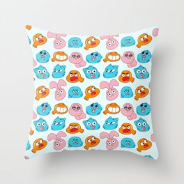 Gumball Faces Pattern Throw Pillow