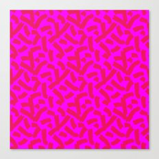Hot Pink Cheese Doodles /// www.pencilmeinstationery.com Canvas Print