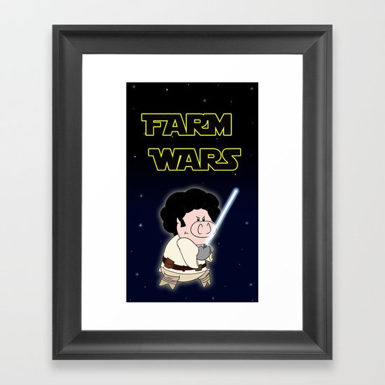 Farm Wars - Luke edition Framed Art Print