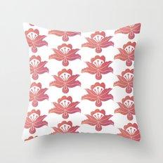 Orange floral pattern 1 Throw Pillow