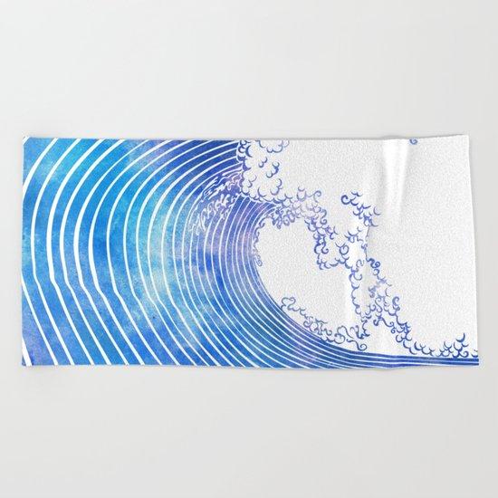 Pacific Waves III Beach Towel