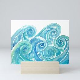 Watercolor Waves Mini Art Print