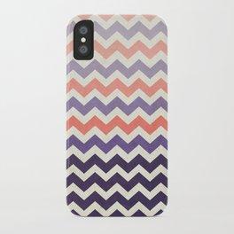Pink Purple Chevron iPhone Case