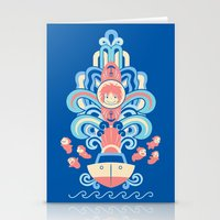 ponyo Stationery Cards featuring Ponyo Deco by Ashley Hay