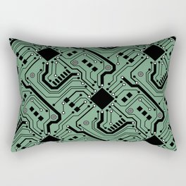 Printed Circuit Board - Color Rectangular Pillow