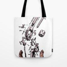Exploded Gun Tote Bag