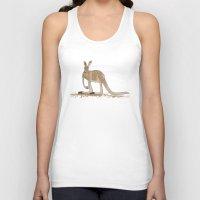 kangaroo Tank Tops featuring Kangaroo by Emma Traynor