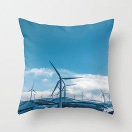 The Wind Farm (Color) Throw Pillow