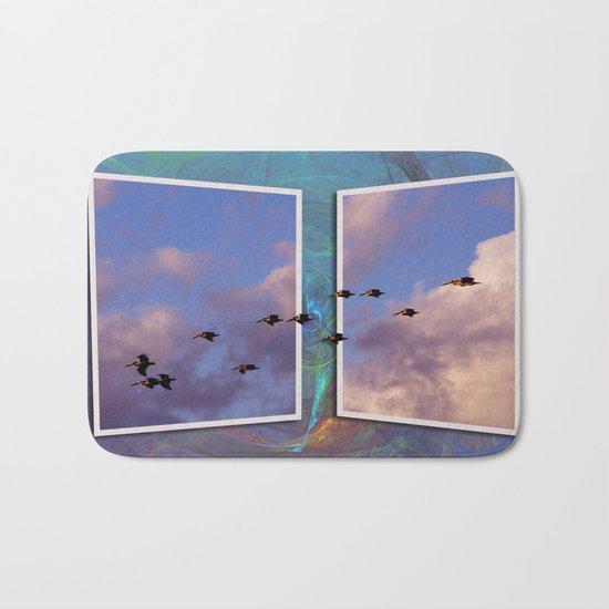 Flying Across Bath Mat