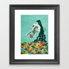 Take a Risk! - Piranhas Framed Art Print