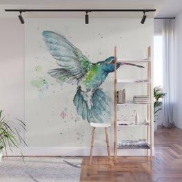 Hummingbird Flurry Wall Mural