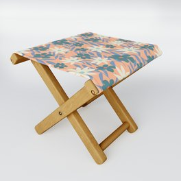 Just Peachy Floral Folding Stool