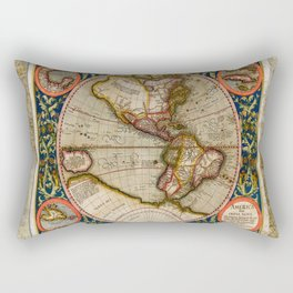 Western Hemisphere Michael Mercator America Rectangular Pillow