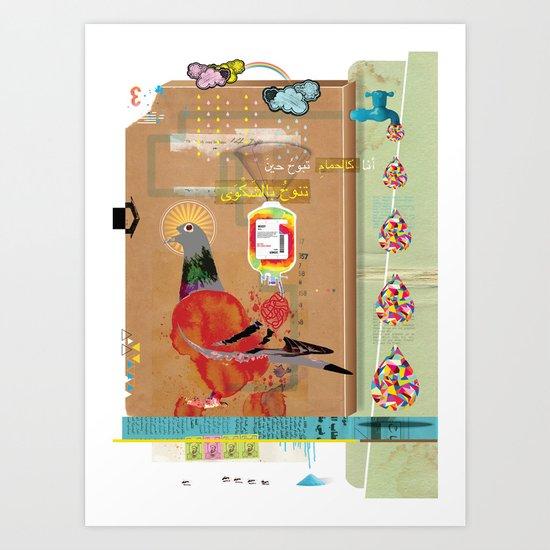 Transfusion Art Print