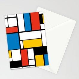 Mondrian De Stijl Modern Art Stationery Cards