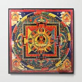 Buddhist Mandala Amitayus Buddha Amitabha Metal Print