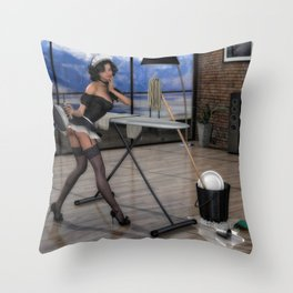 The French Maid Throw Pillow
