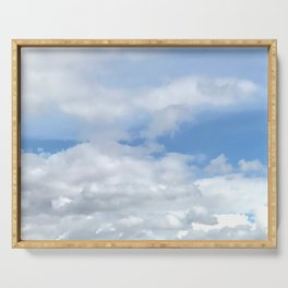 Soft Heavenly Clouds Serving Tray