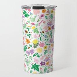 Cottage Garden Floral Print Travel Mug