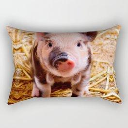 Cute Baby Piglet Farm Animals Babies Rectangular Pillow
